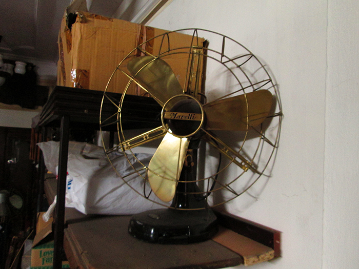 1910 - Italian Marelli Oscillating Antique Desk fan