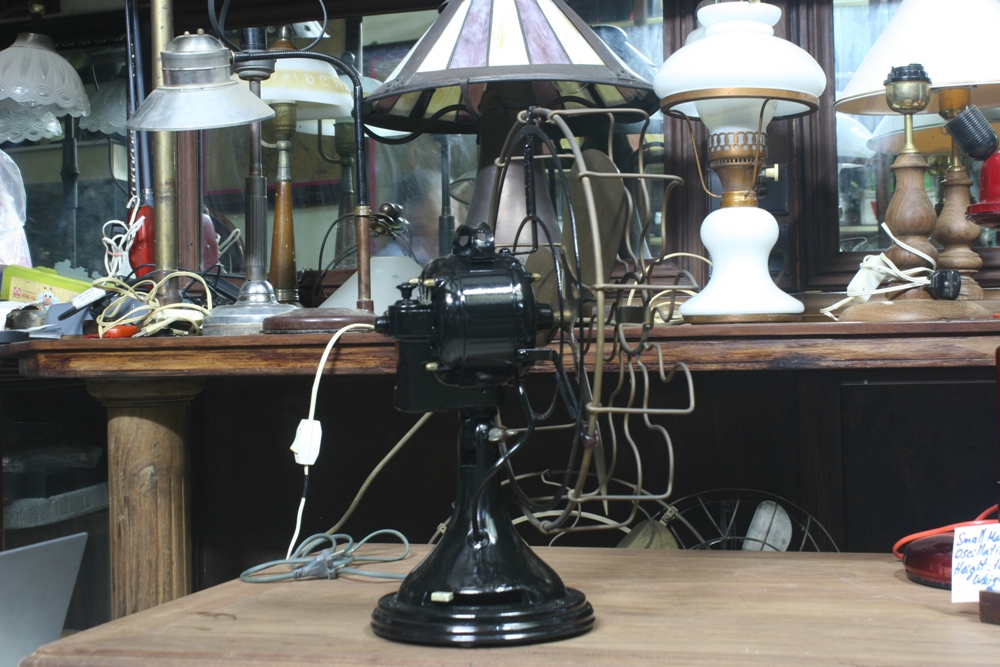 Small marelli table fan oscillating 1920