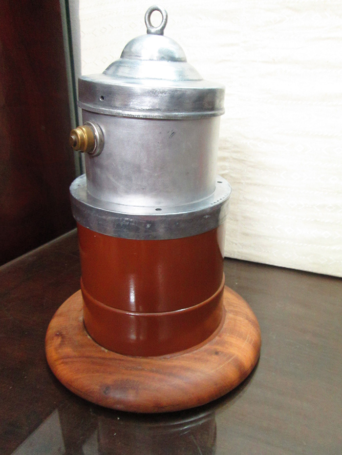Antique Coffee Filter with wood base