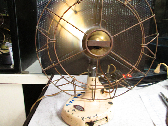1930 Italian Marelli Antique Desk Fan