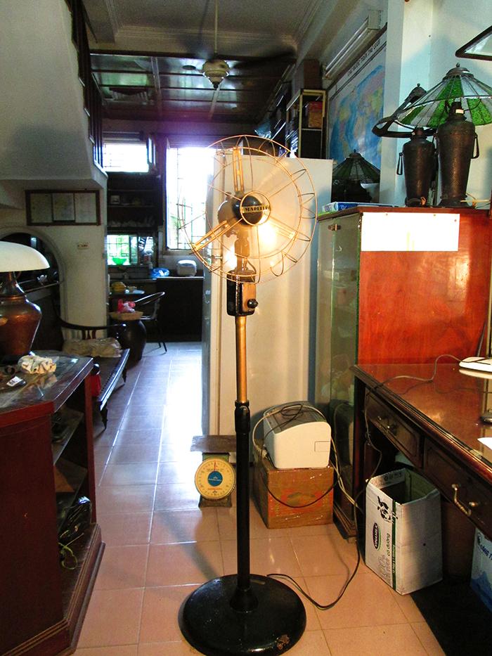 Antique Marelli Metal Stand fan