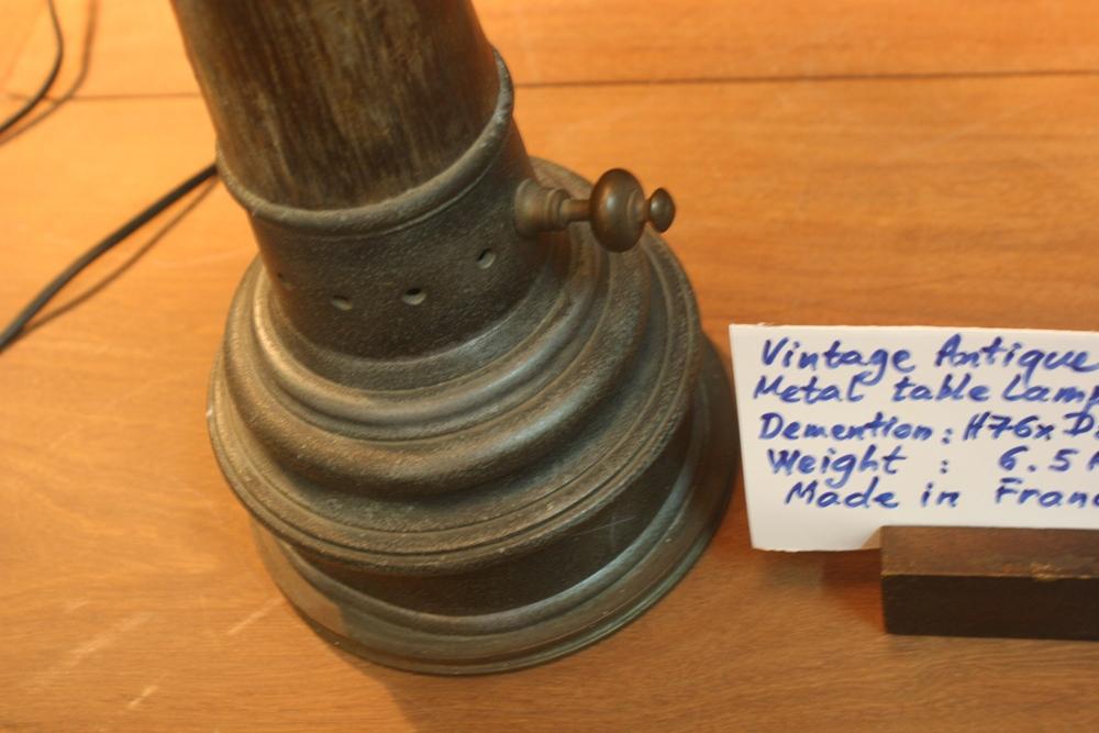 Vintage Antique style Metal table lamp