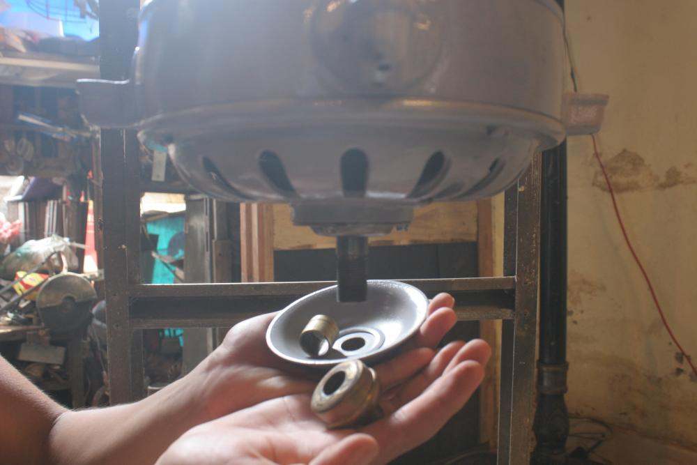 1920 Vintage Marelli Ceiling Fan With 4 Wooden Blades