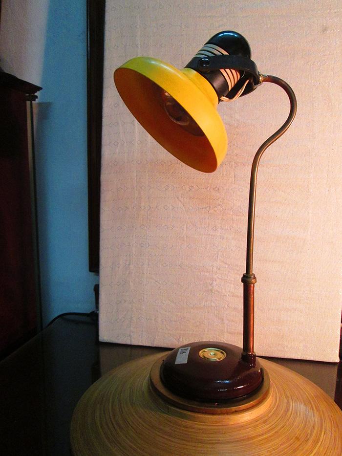Old vintage Art deco Gooseneek desk table Lamp