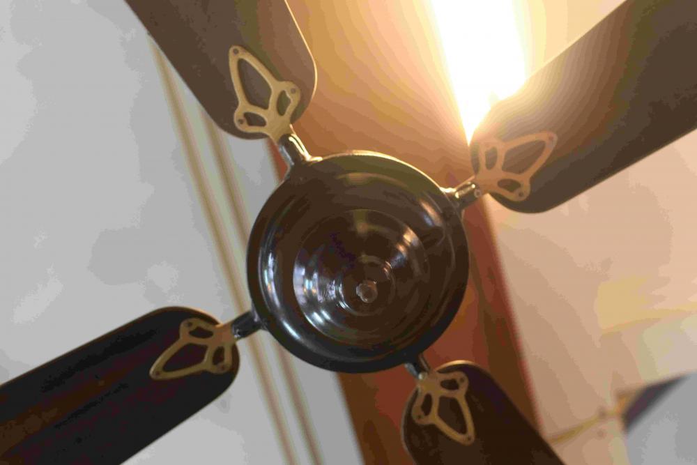 Ventilatore Antico da soffito Marelli - Boreale - 1930 Antique old electric...