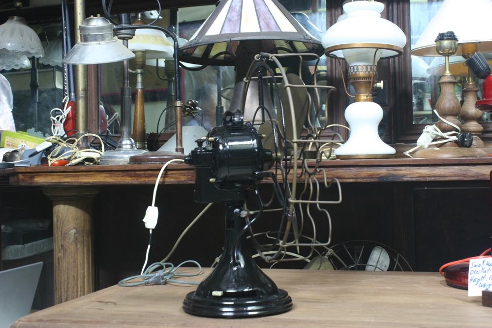 Small marelli table fan oscillating 1920